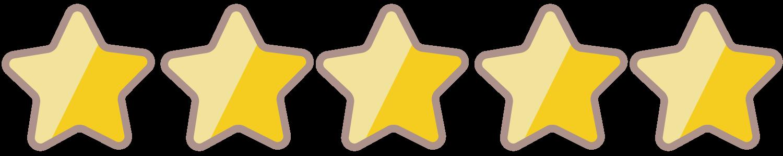 評価_ランキング_星5つ